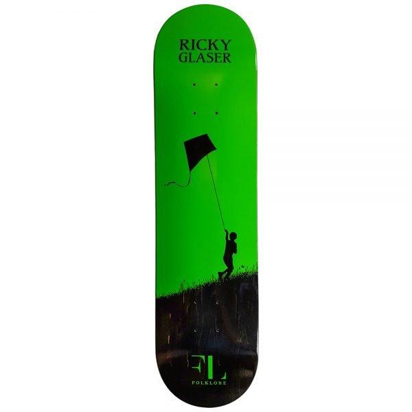 green ricky glaser kite pro model skate deck