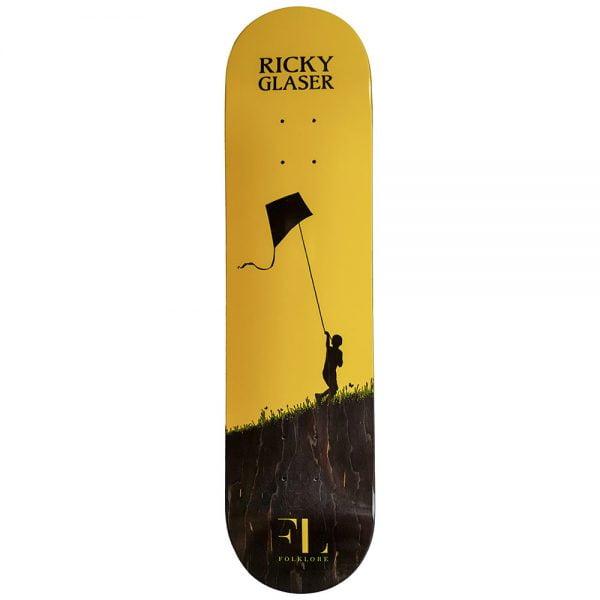 yellow ricky glaser kite pro model skate deck