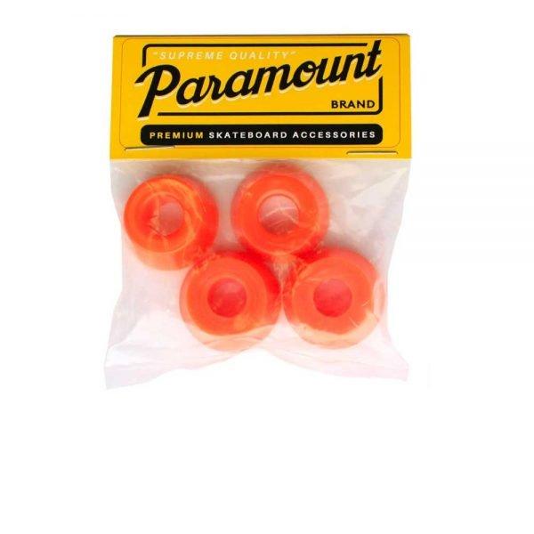 paramount orange blue skate truck bushings in packaging
