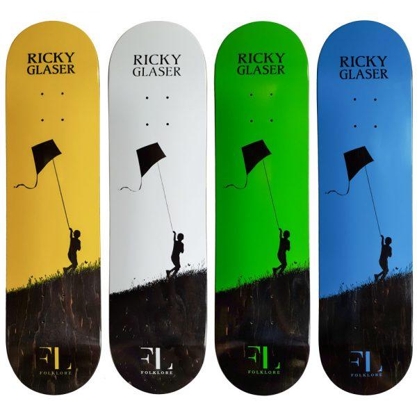 group ricky glaser kite pro model skate deck