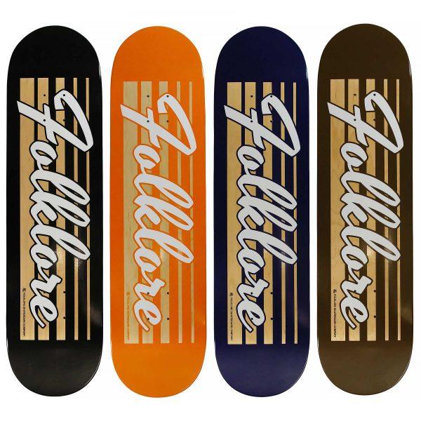 folklore retro racer skate deck colour range