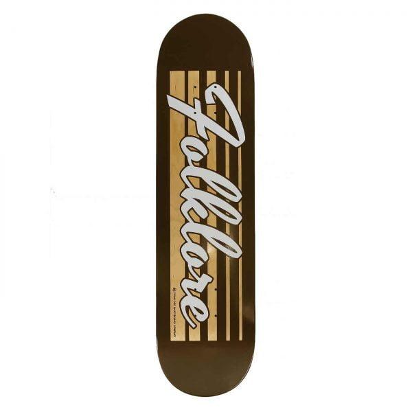 Folklore Retro Racer-brown-skate deck