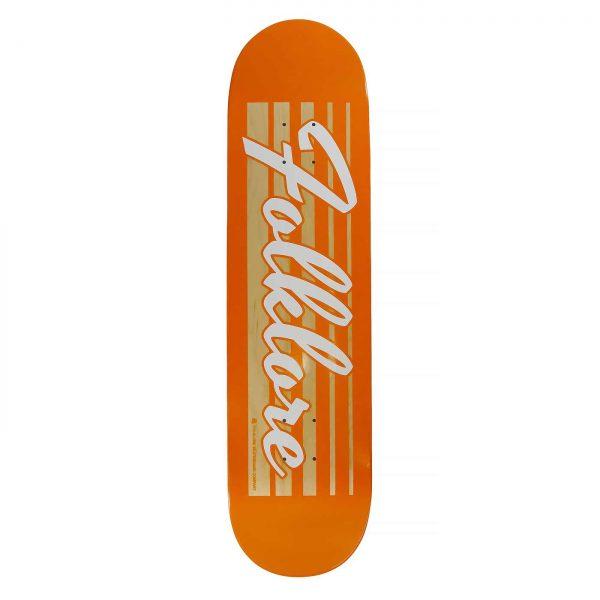 Folklore Retro Racer-orange-skate deck